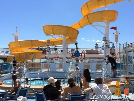 disney magic cruise ship kid pool water slide