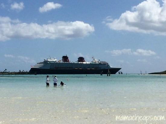 disney magic docked at castaway cay