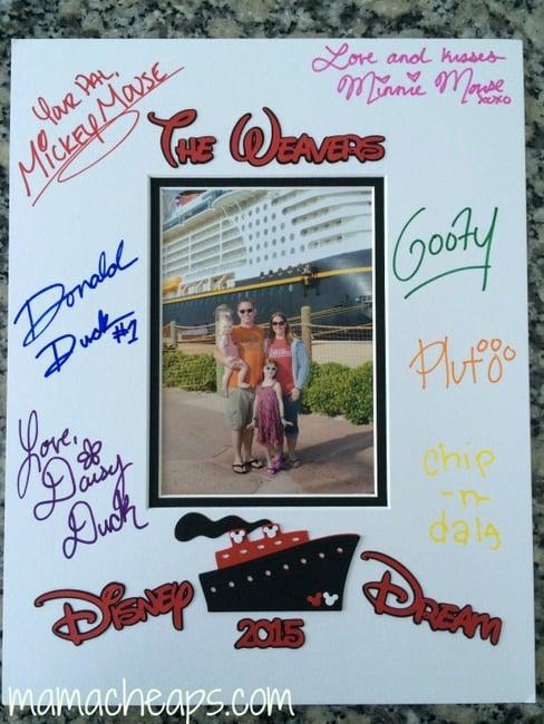 personalized disney photo matte