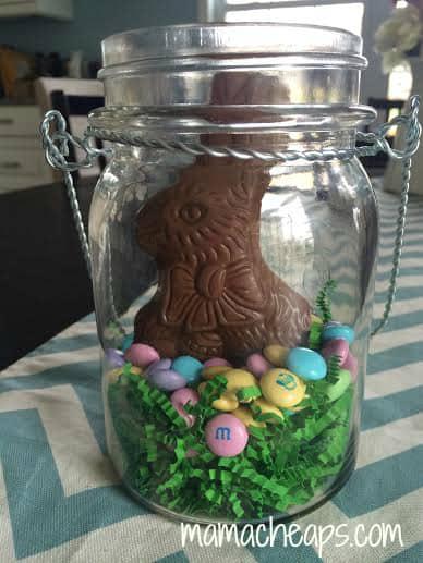 bunny mason jar centerpiece