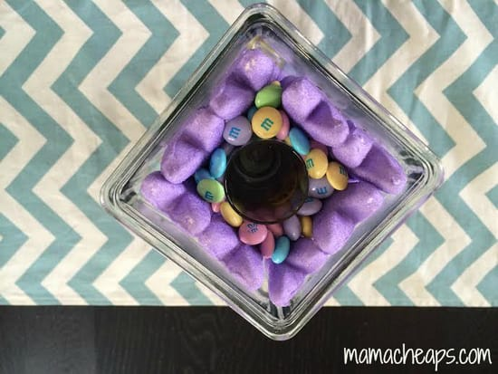 peeps easter candy vase