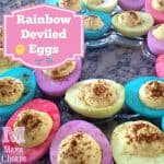 rainbow deviled eggs - title square