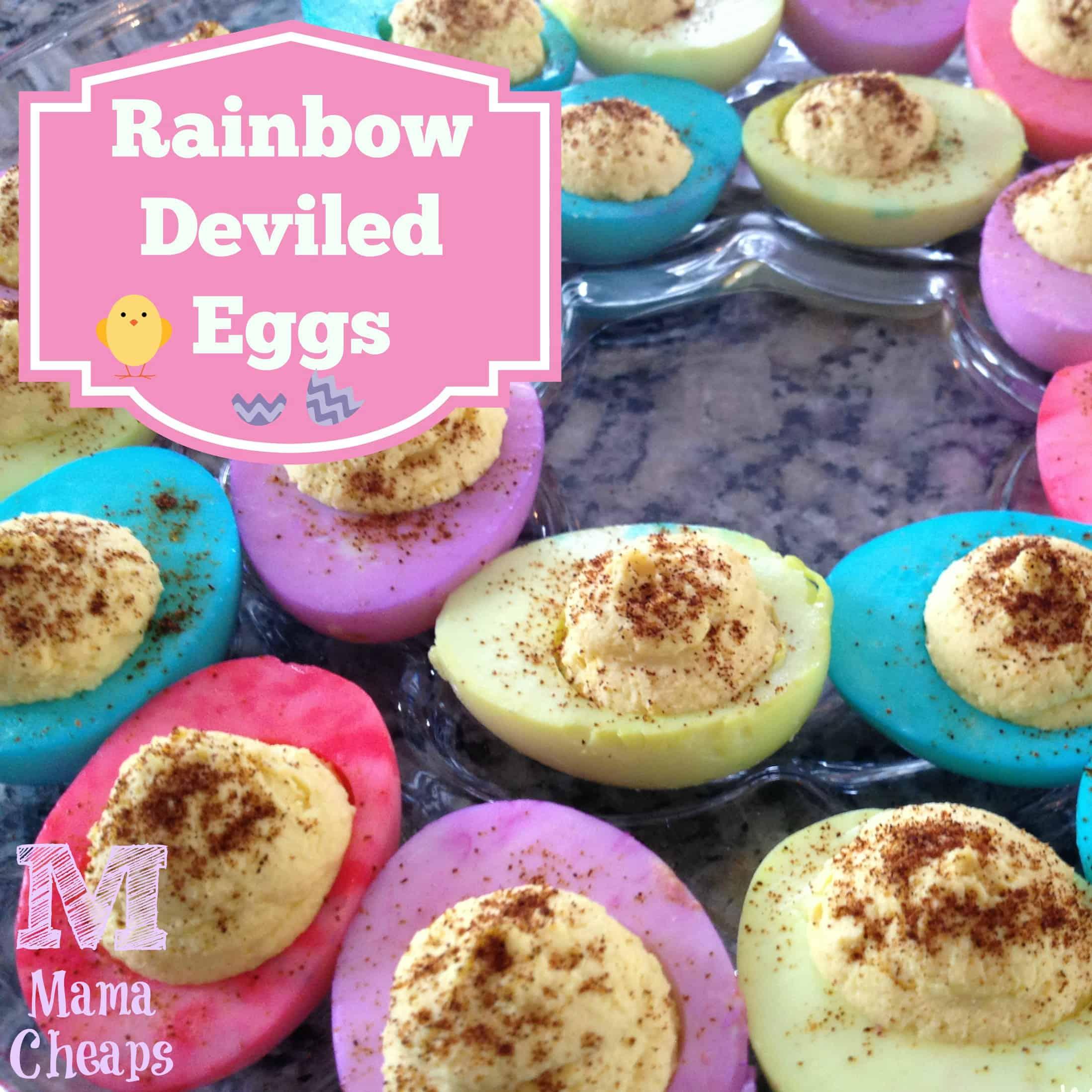 rainbow deviled eggs - title square
