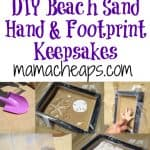 DIY Beach Sand Hand and Footprint Keepsakes