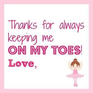 ballerina gift tag