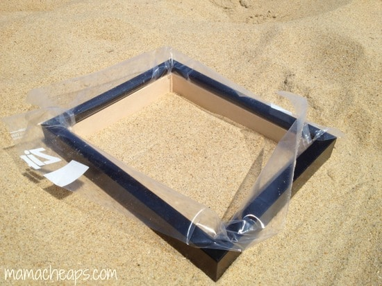 diy beach handprint footprint craft frame b