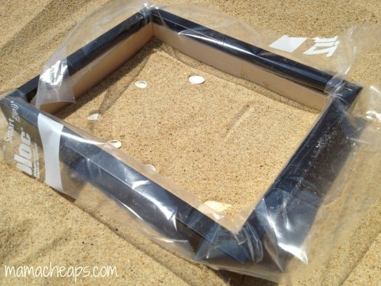 diy beach handprint footprint craft frame c