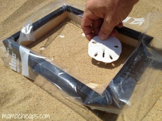 diy beach handprint footprint craft frame d