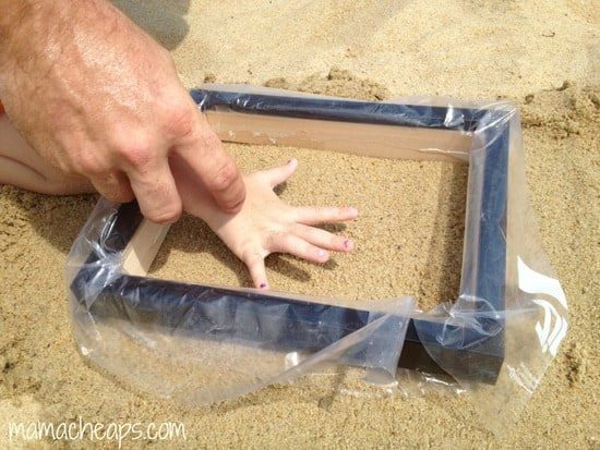 diy beach handprint footprint craft frame j
