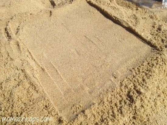diy beach handprint footprint craft frame m