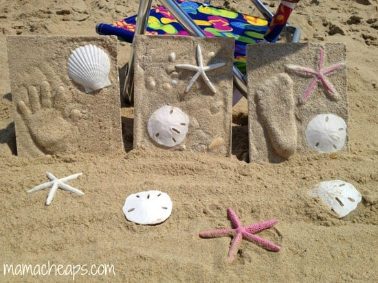 diy beach handprint footprint craft frame r