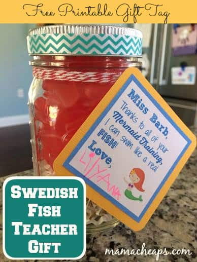 teacher gift swedish fish swimming mermaid appreciation front title