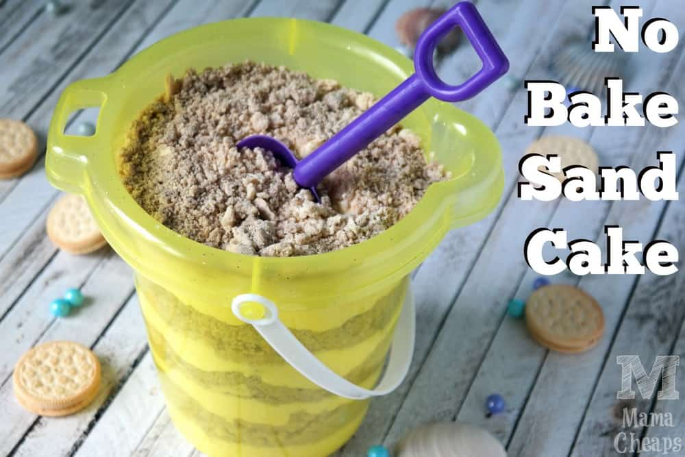 No Bake Sand Cake Bucket