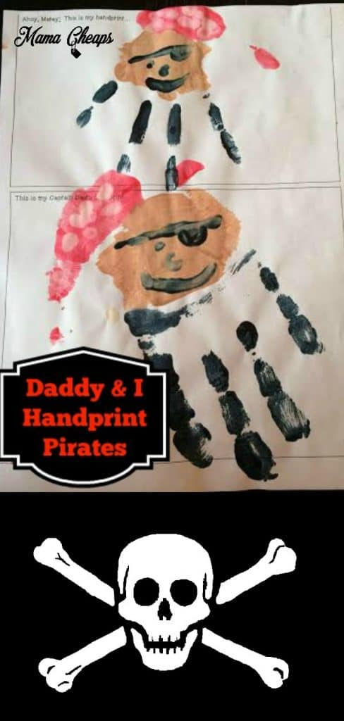 Pirate Handprints Fathers Day Craft