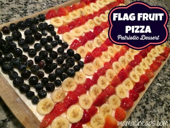 flag fruit pizza red white blue dessert title