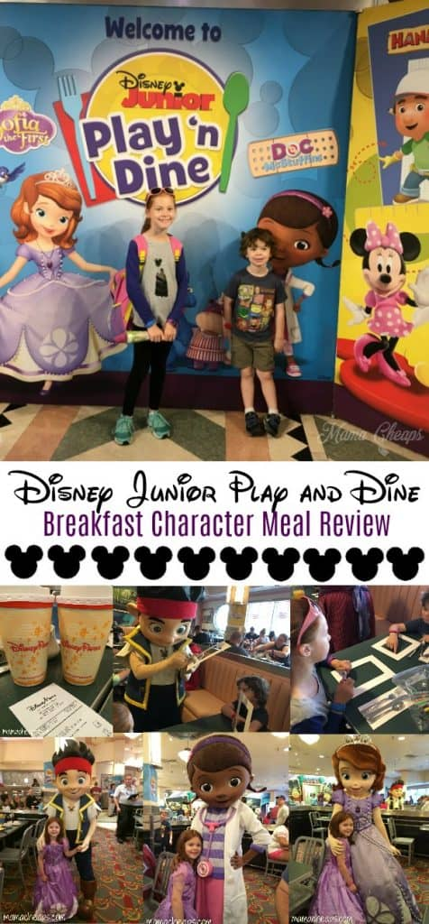 Disney Junior Play and Dine Breakfast Character Meal Review