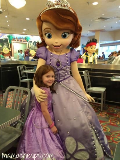 lily at disney junior play and dine hollywood studios with sofia
