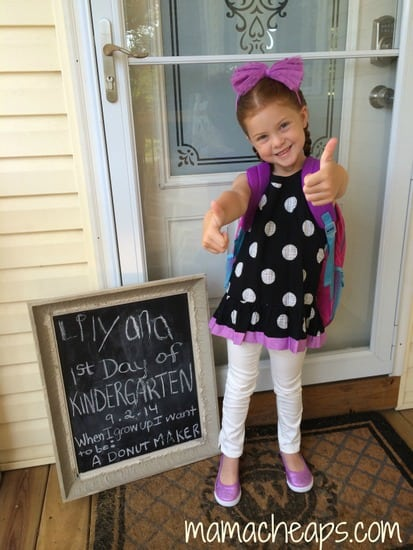Lily 1st day of school b