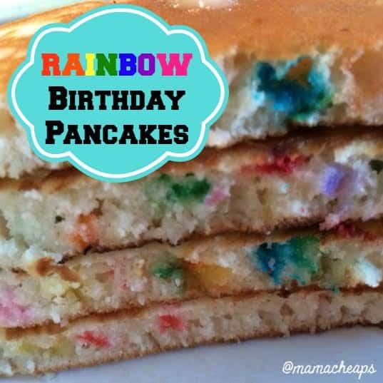 birthday pancakes rainbow sprinkles plate - title