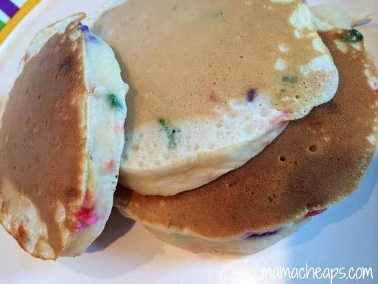 birthday pancakes rainbow sprinkles