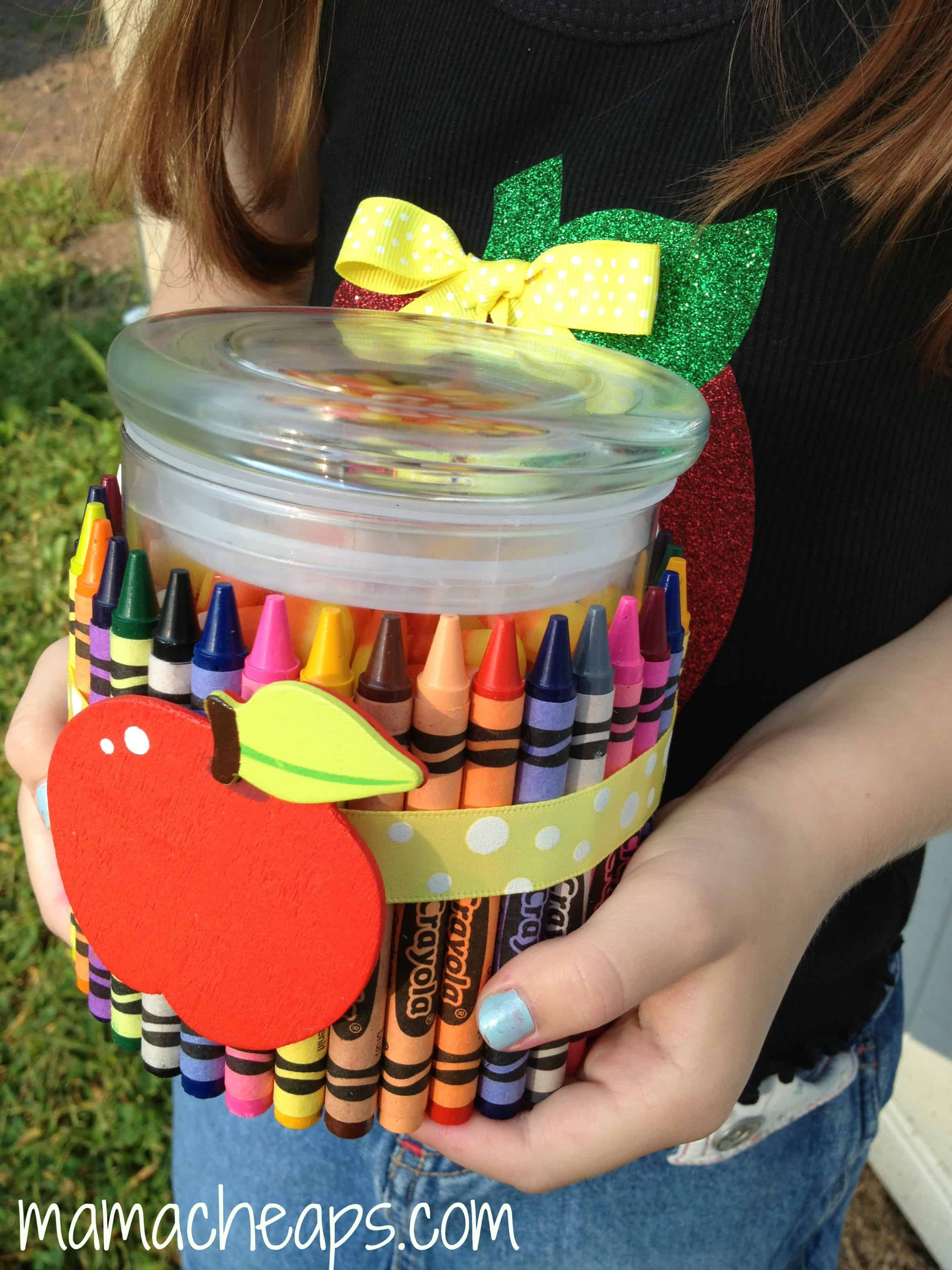 crayon jar teacher gift idea