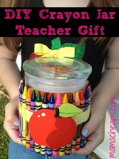 crayon jar teacher gift