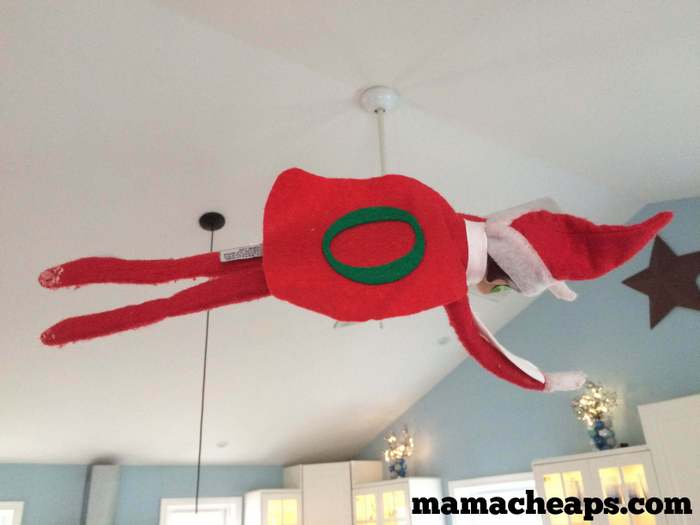 Flying Elf on the Shelf Super Hero