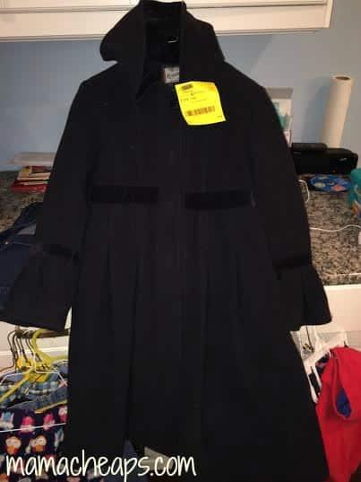 JBF Just Between Friends black coat