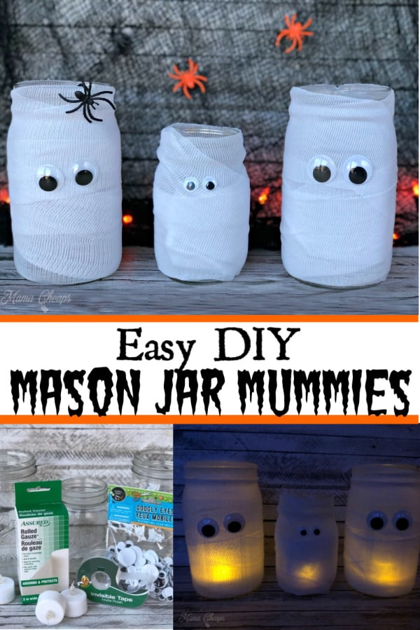 Mason Jar Mummies PIN