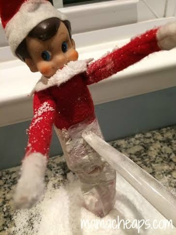 elf on the shelf frozen close up