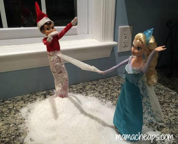 elf on the shelf frozen elsa