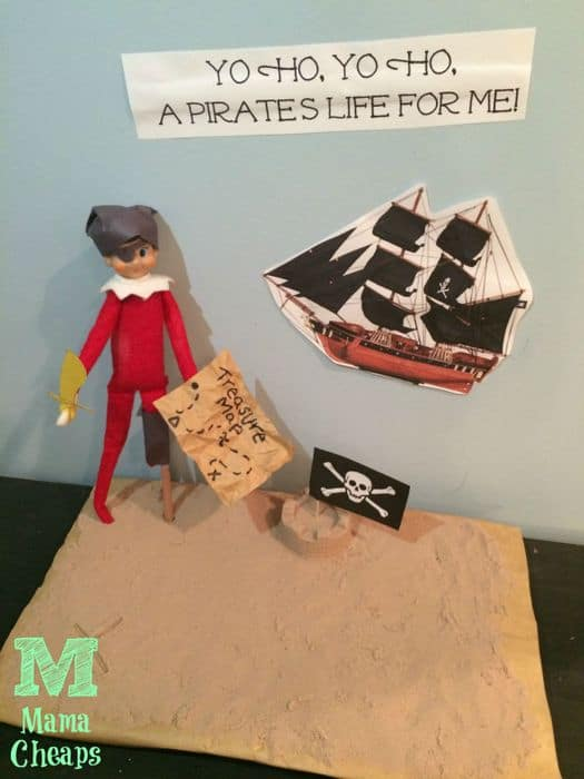 elf on the shelf pirate scene