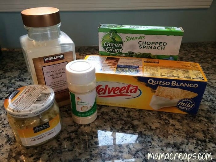 spinach artichoke dip ingredients