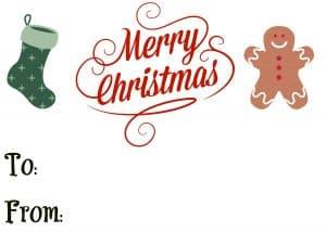 Merry Christmas printable gift tag
