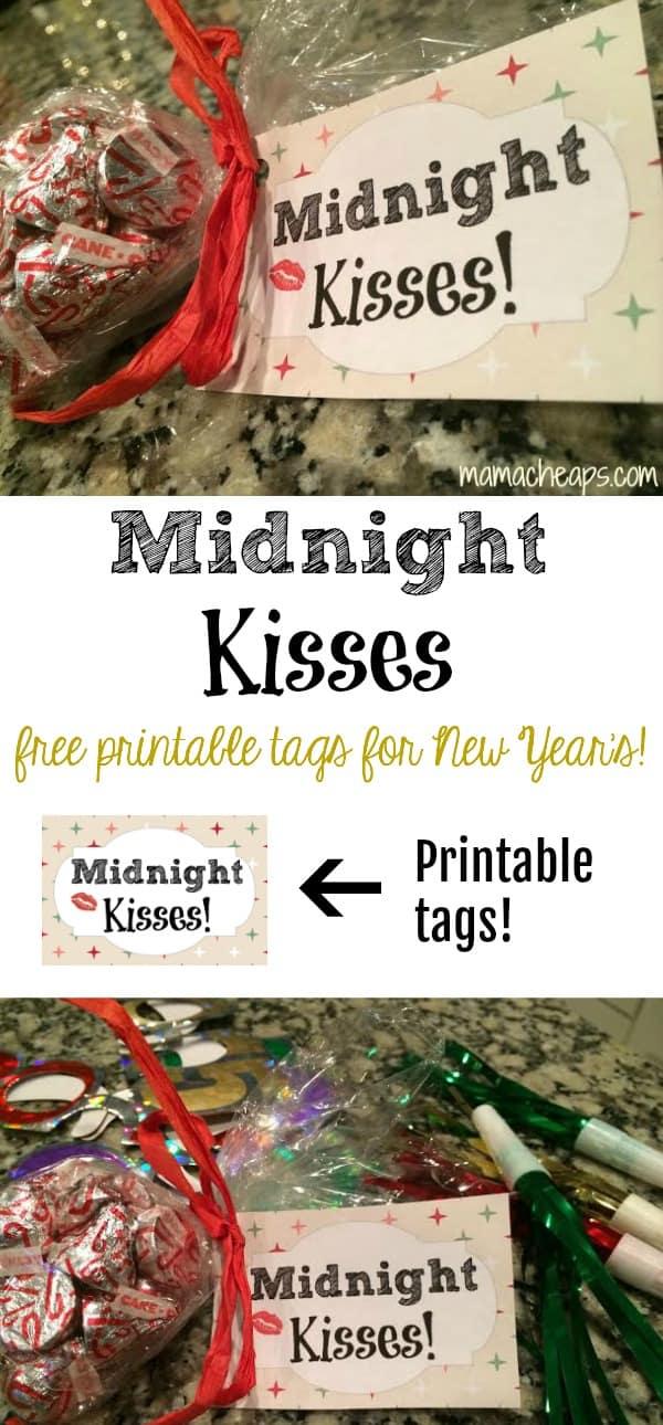 Midnight Kisses Free Printable Tags