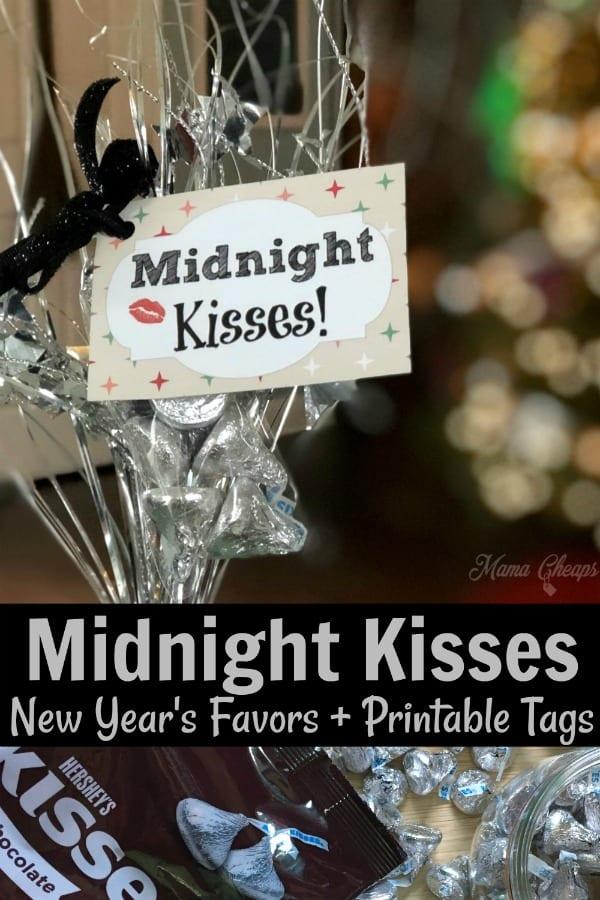 Midnight Kisses Printable Tags