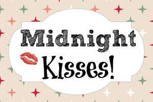 midnight kisses party favor tag