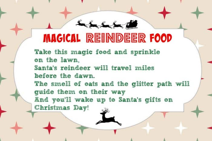 photograph relating to Reindeer Food Poem Printable known as Magical Reindeer Foods Recipe + Cost-free Printable Poem Tag