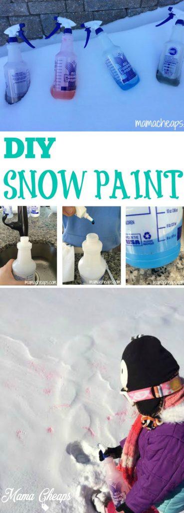 DIY Snow Paint 2 Ingredients