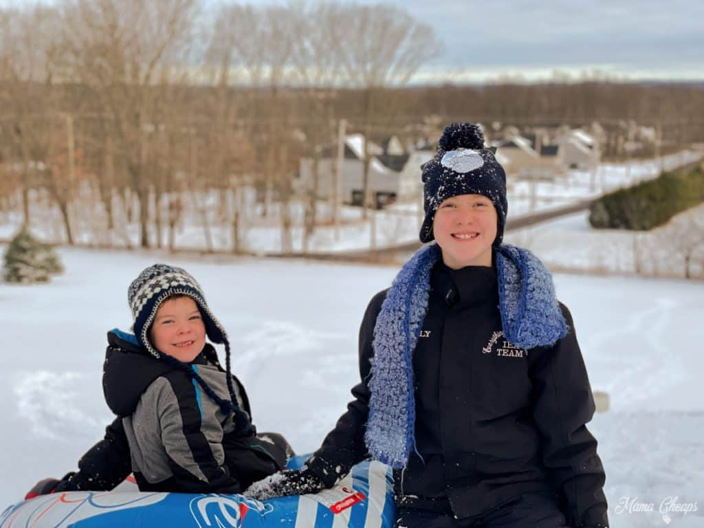 Kids Tubing Snow Hill