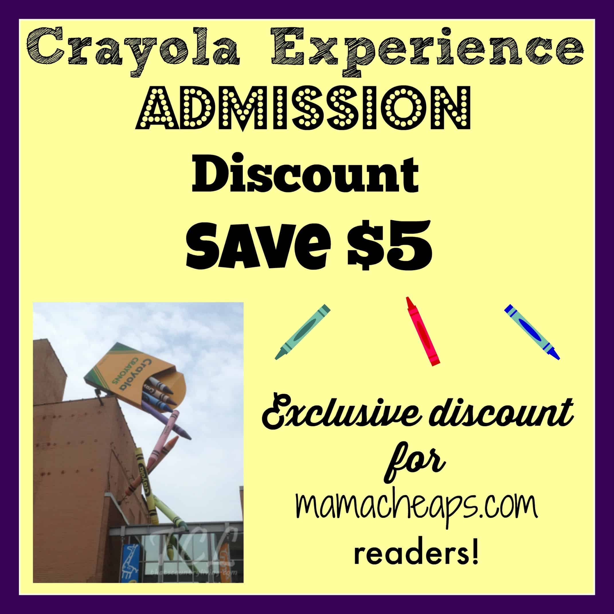 Crayola Experience Discount Tickets Macys 1 Day Sale