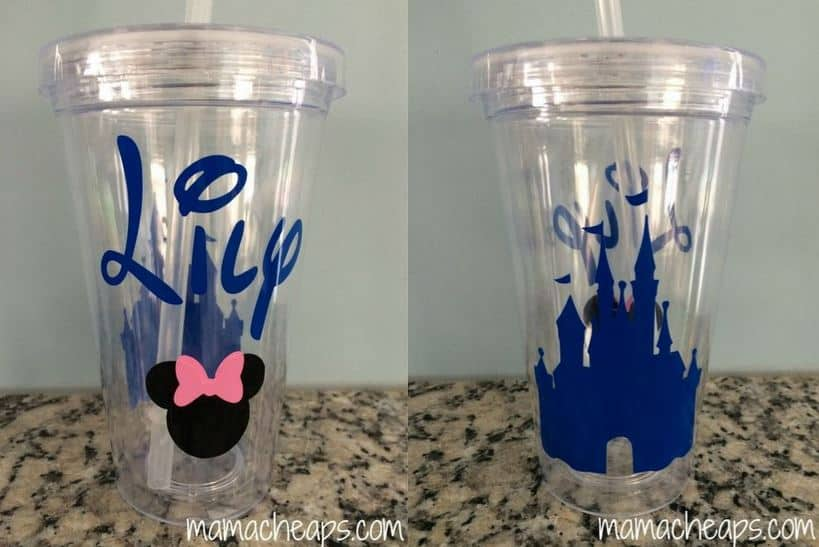 Silhouette Portrait Project Personalized Disney Tumbler