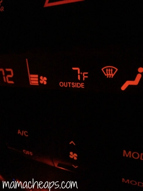 car temperature winter