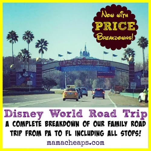 Disney World Road Trip Itinerary