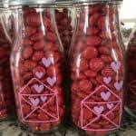 m&m valentine milk bottle craft
