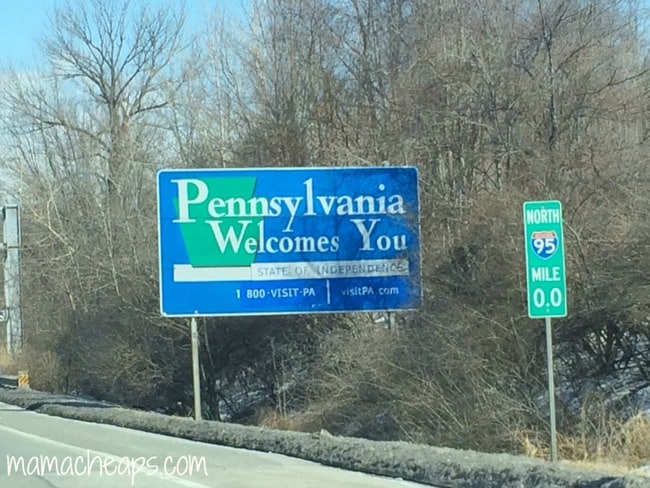 pennsylvania state border
