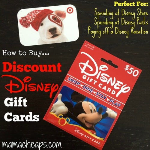 Disney Gift Card Discount - How to Save 5%! | Mama Cheaps