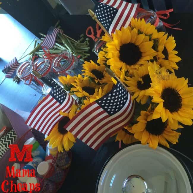 diy sunflower centerpiece