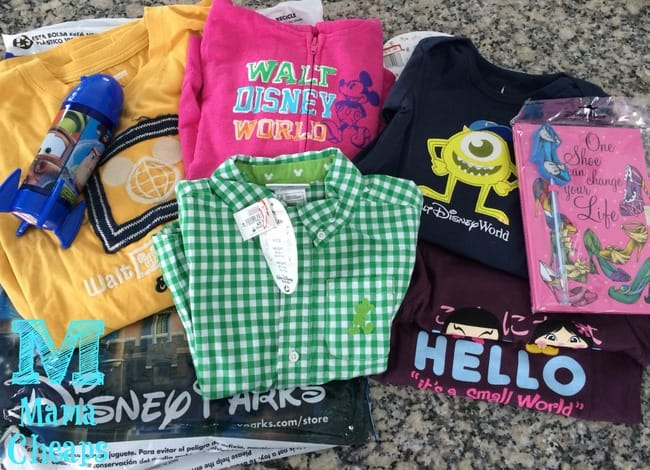 merchandise from disney character warehouse outlet store
