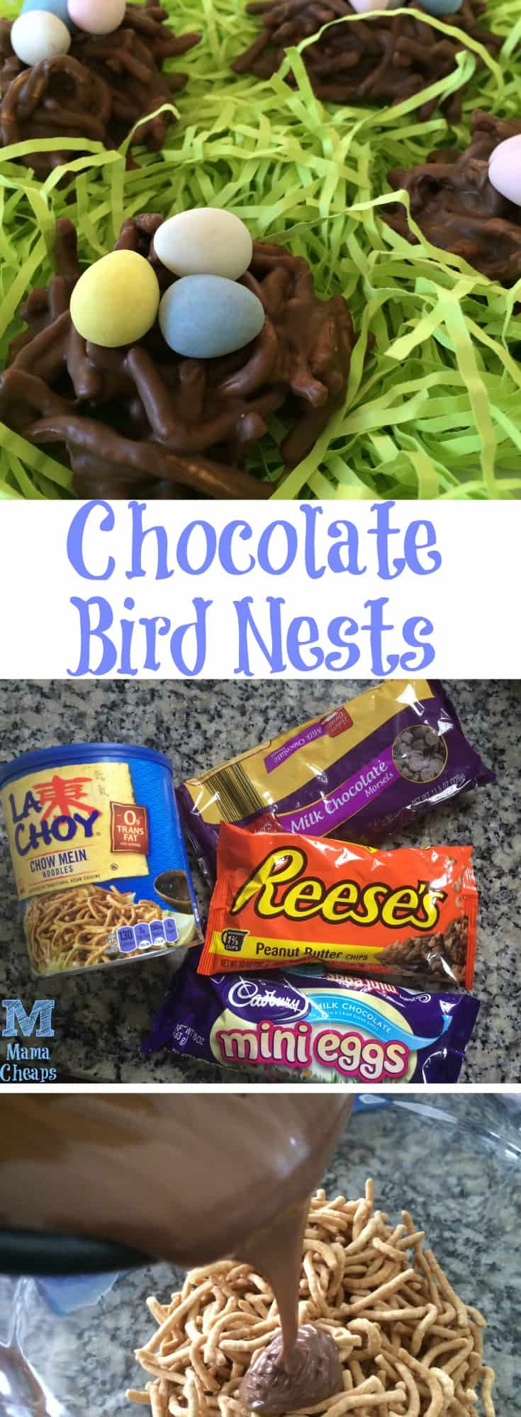 Chocolate Bird Nests Dessert